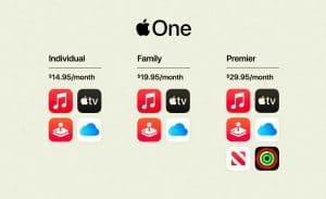 Planes de precio de apple One