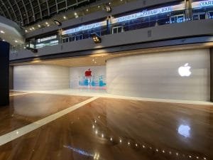 Interior de la Apple Store en Singapur