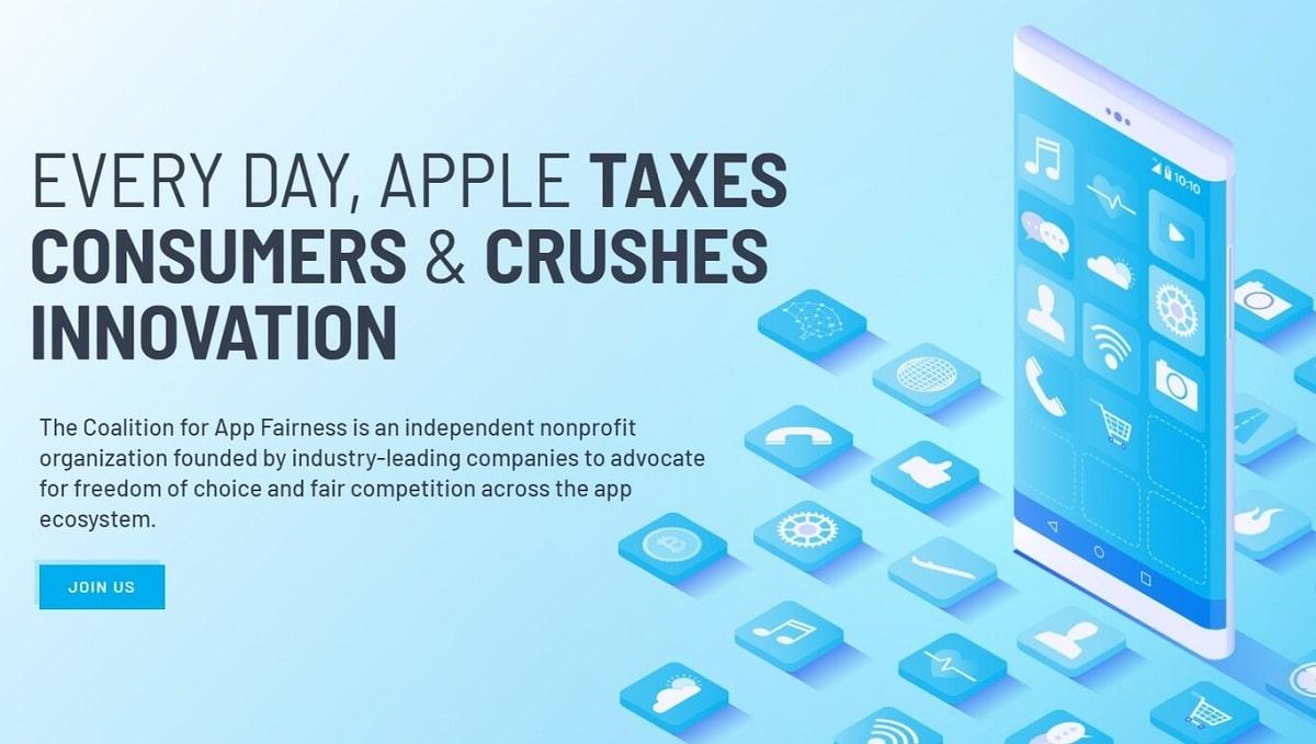 """Apple tiene un reciente rival: """"La coalición para la equidad de las aplicaciones"""""""
