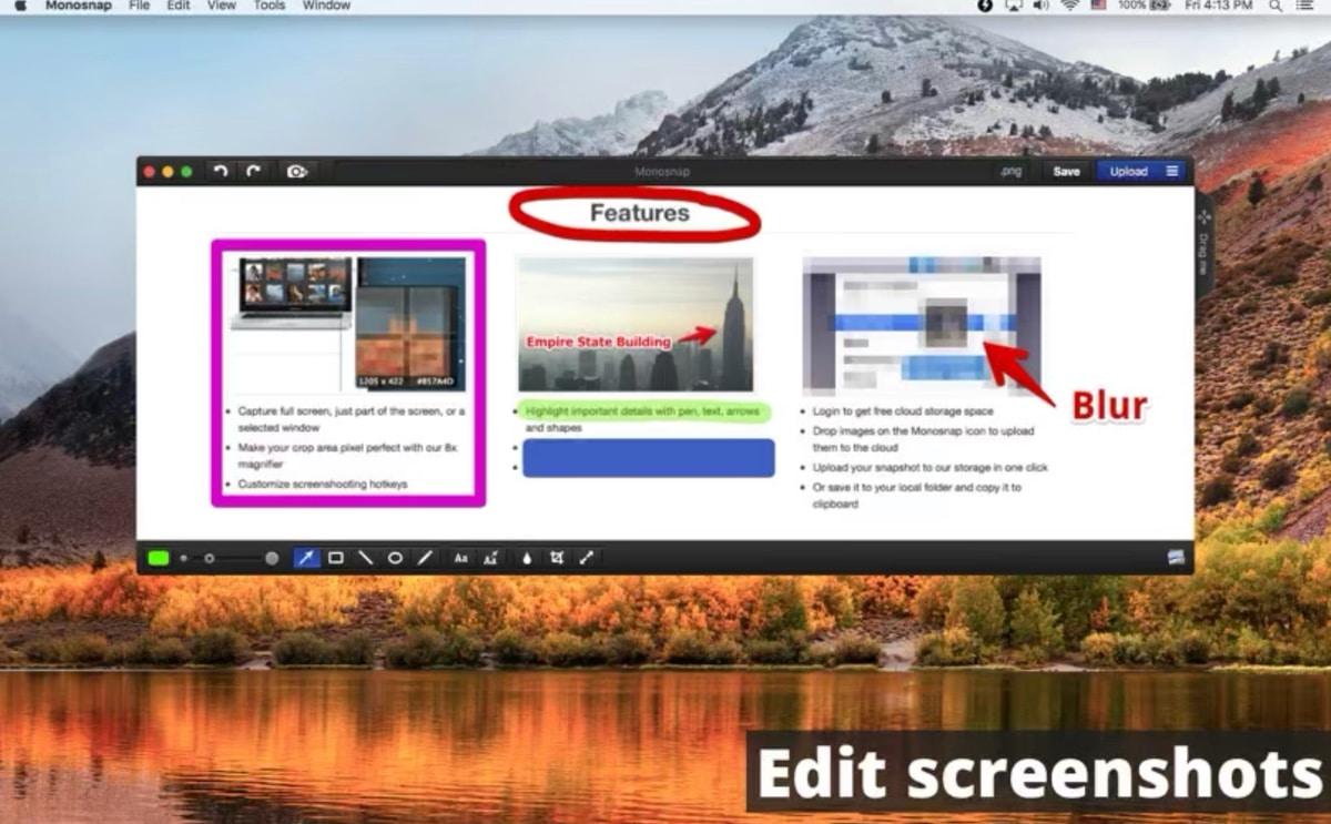 Monosnap captura de pantalla