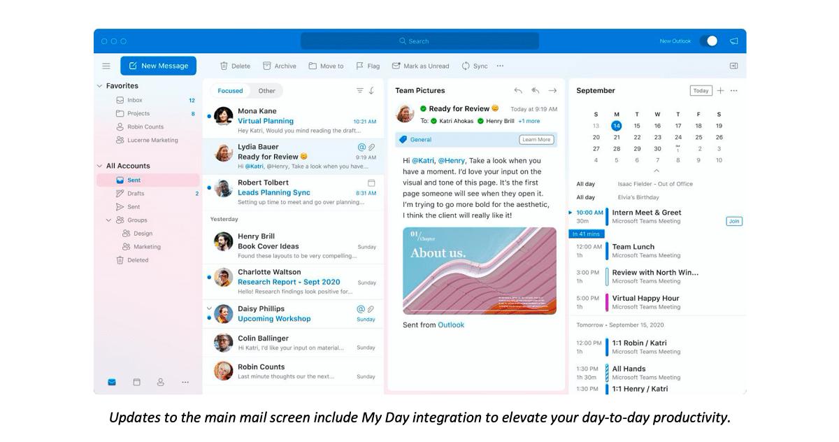 Nuevo Outlook para Mac en octubre