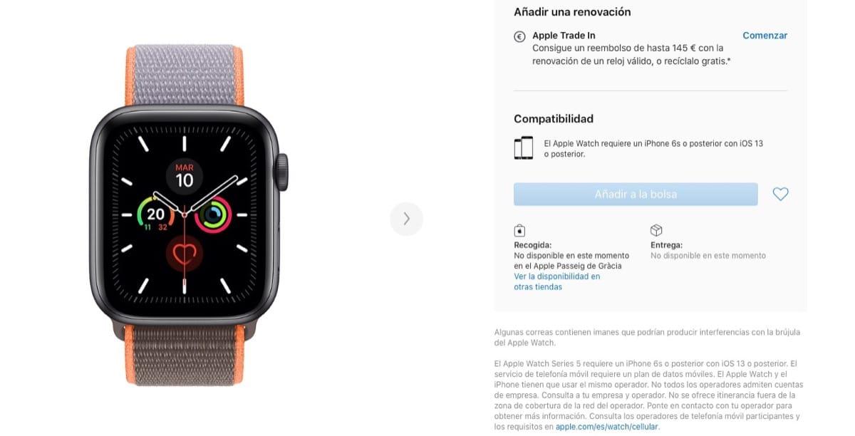 Sin stock Apple Watch