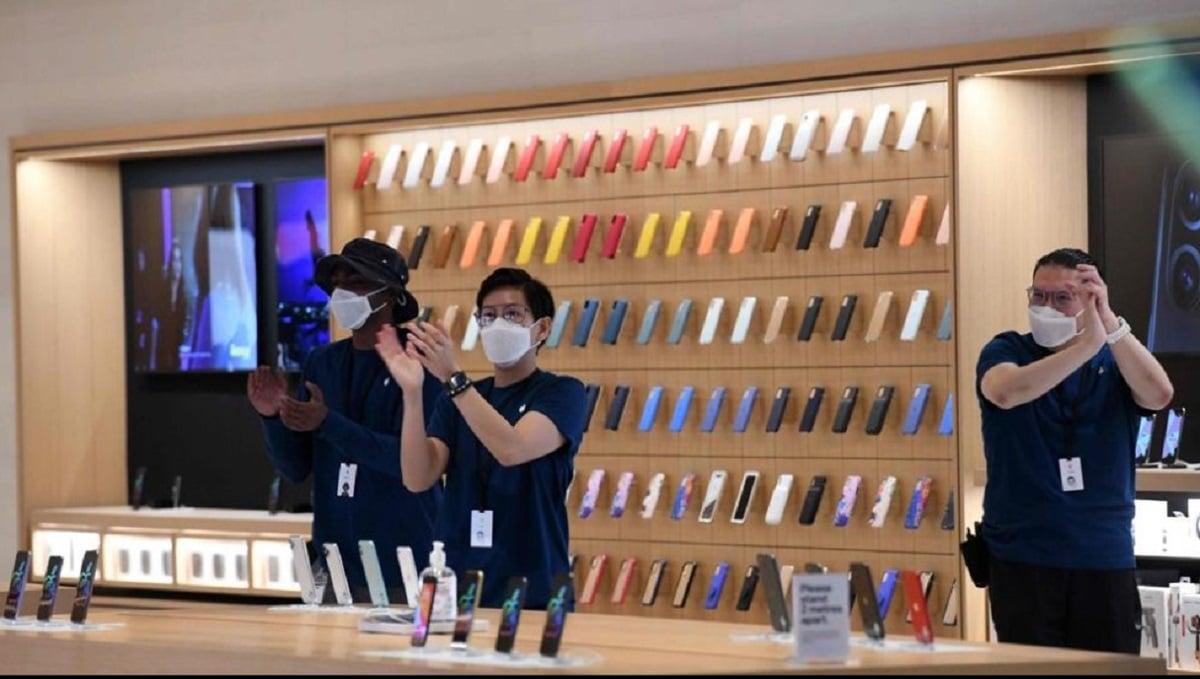 Las mascarillas diseñadas por Apple