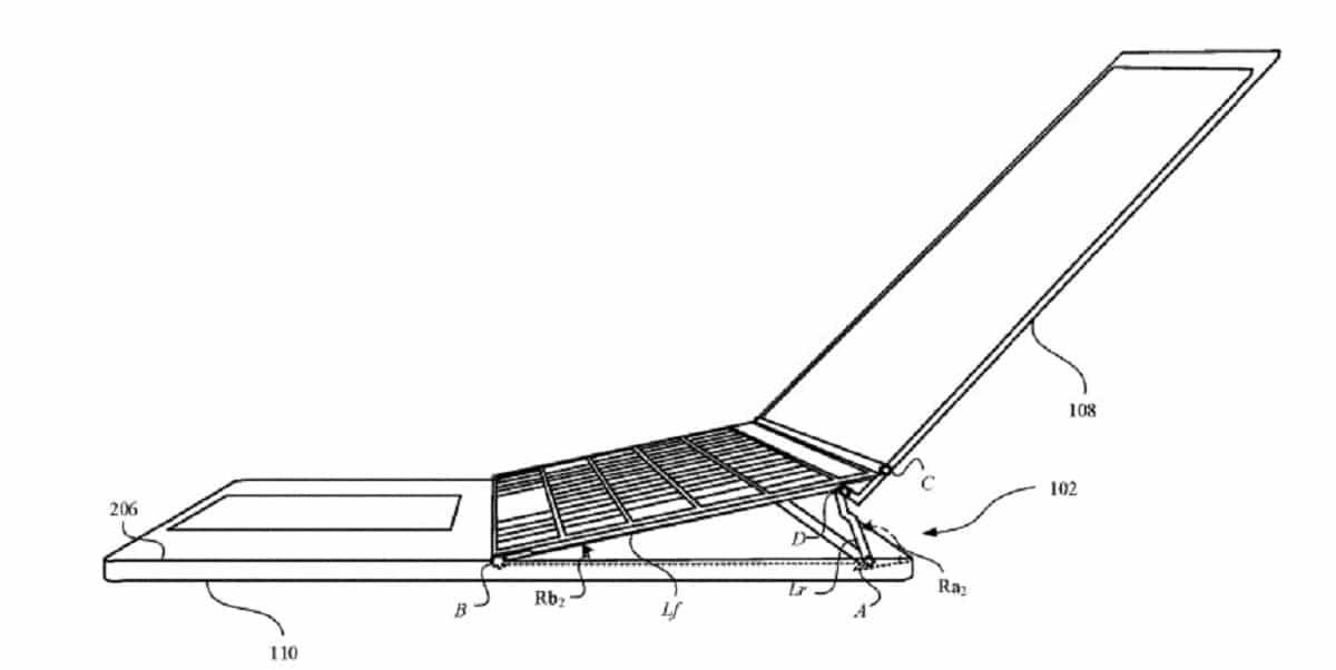 Nueva patente de Apple para conseguir una mejor ergonomia en los MacBook Pro