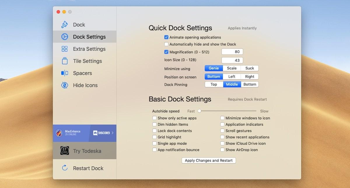 Personalizar Dock con cDock