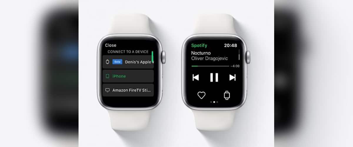 Spotify streaming Apple Watch