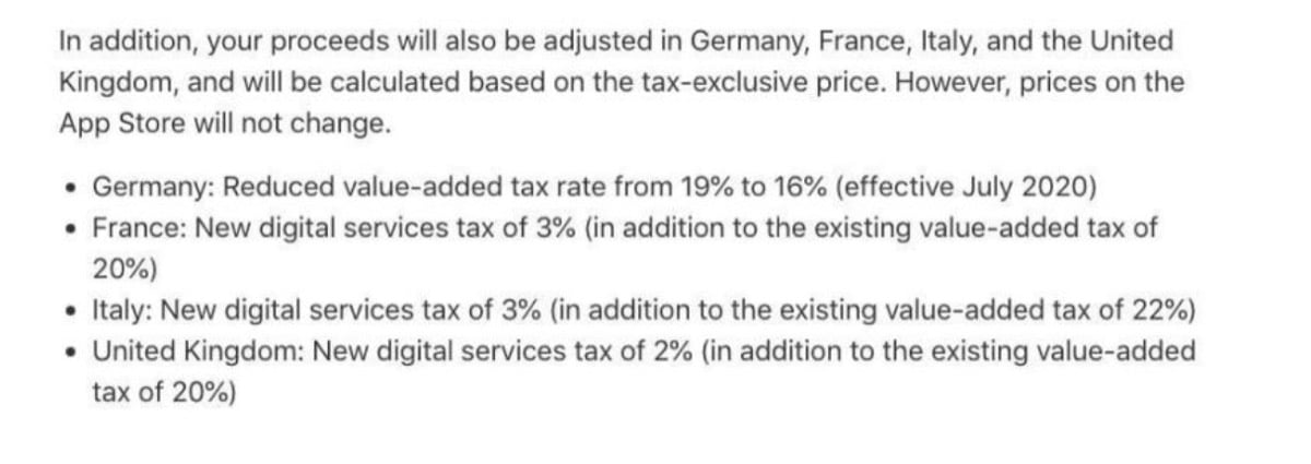 Impuestos DST Apple