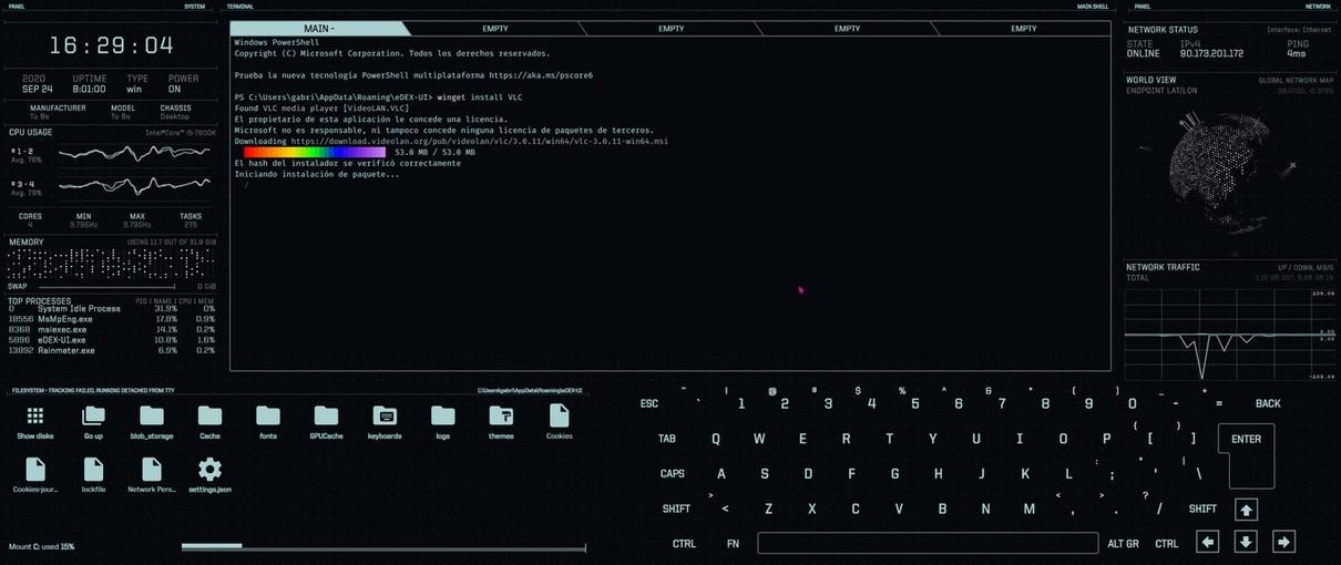 eDEX-UI terminal