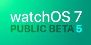 watchOS 7 public beta 5