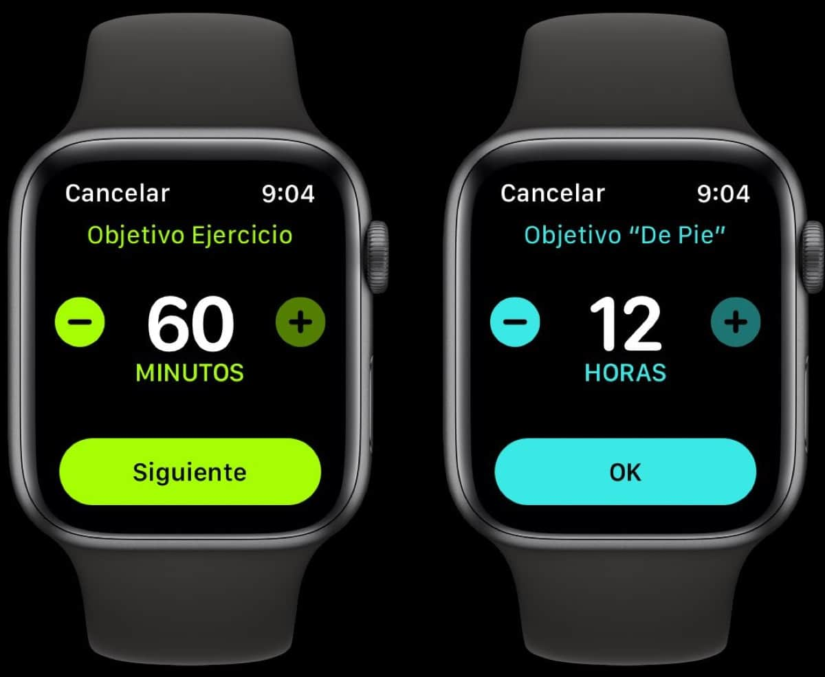 Apple Watch Ejercicio De pie