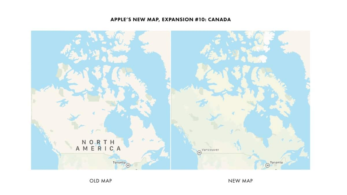 Apple Maps en Canadá