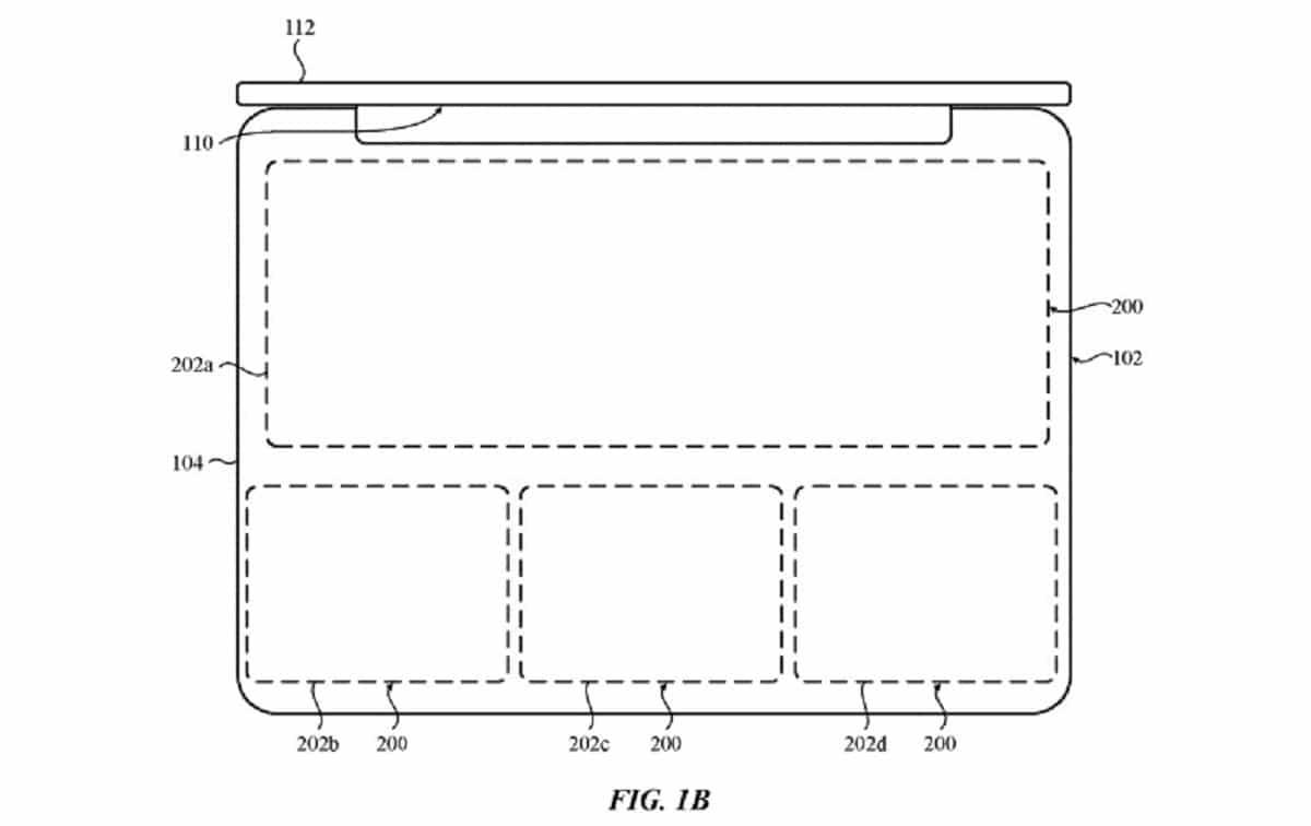 Patente de teclado virtual de Apple