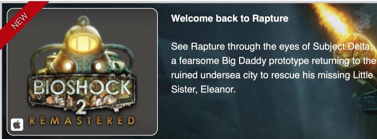Bioshock 2 resmastered