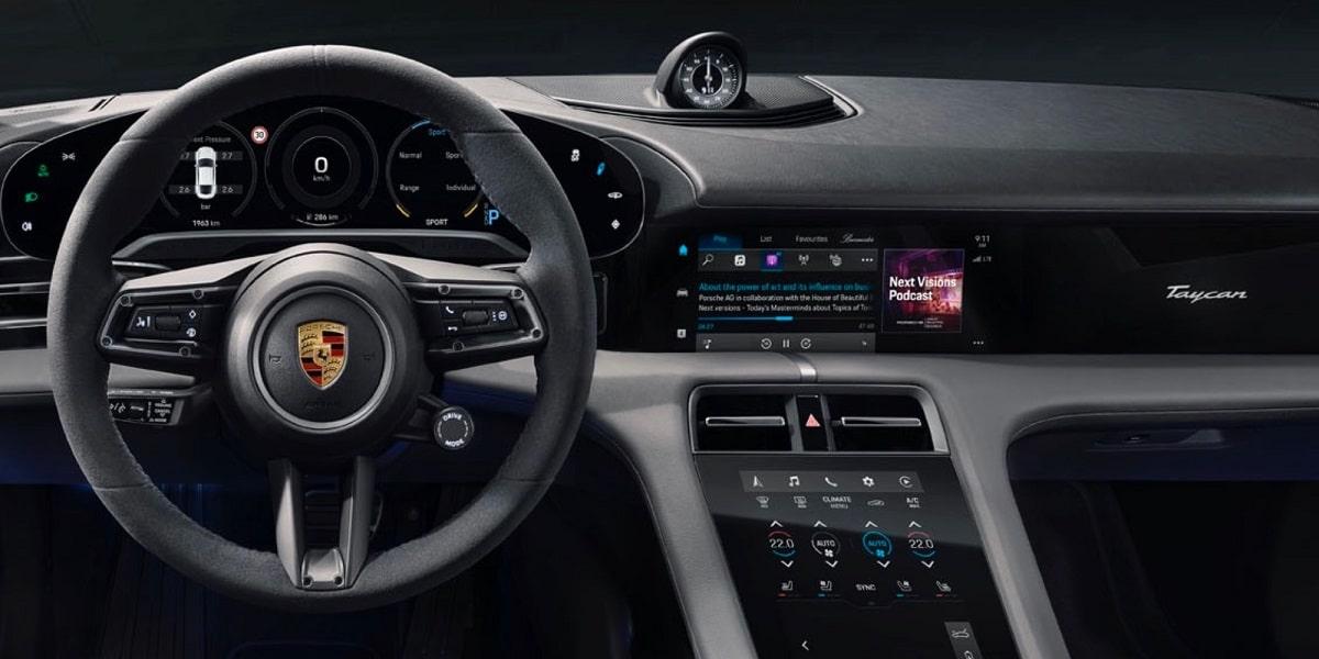 Apple Music y Podcast en Porsche Taycan