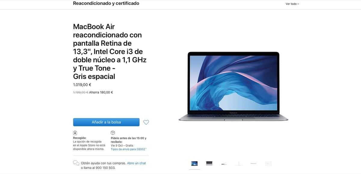 MacBook Air 2020 reacondicionado