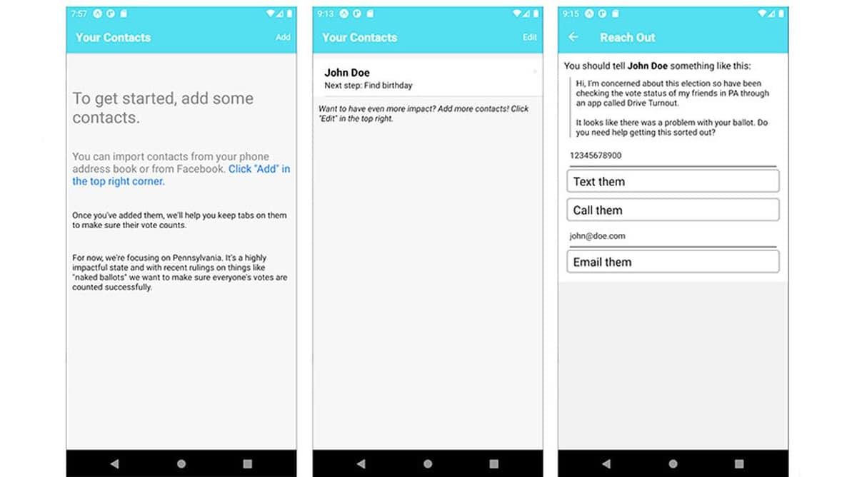 App que cuenta los votos en las elecciones