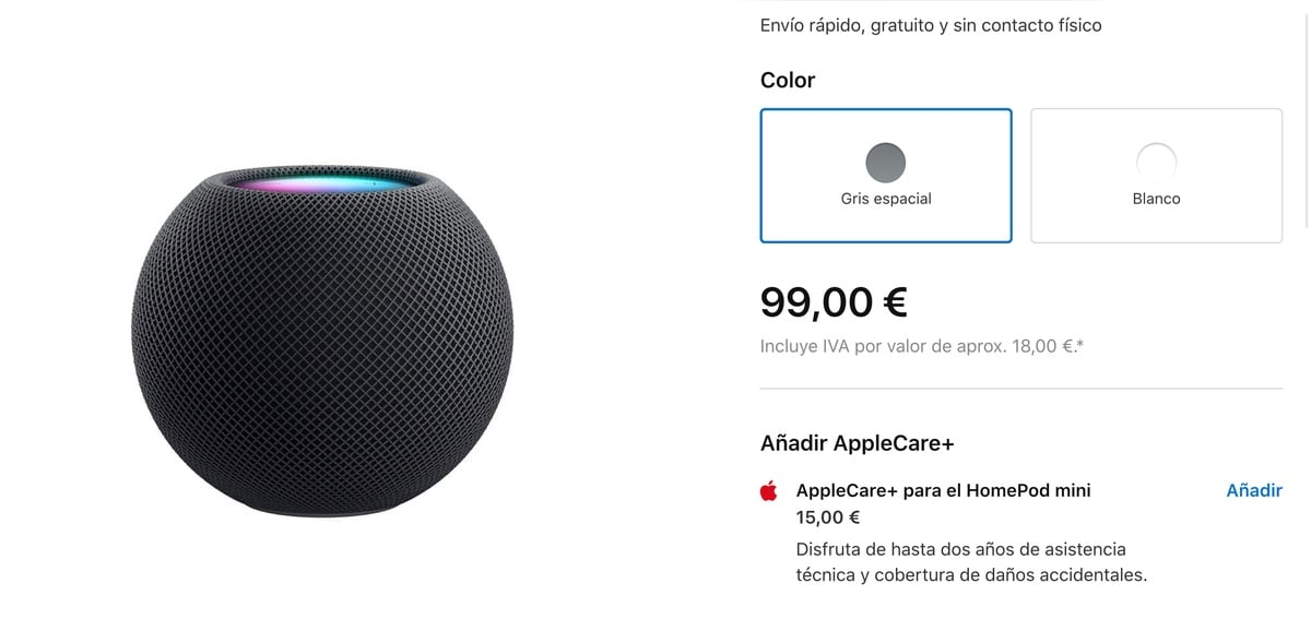 Apple Care + para el HomePod mini
