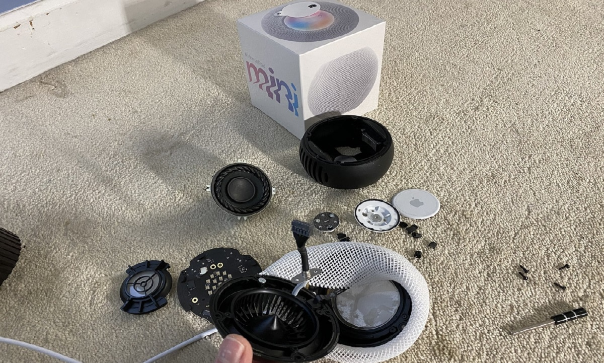 Desmontaje de HomePod mini