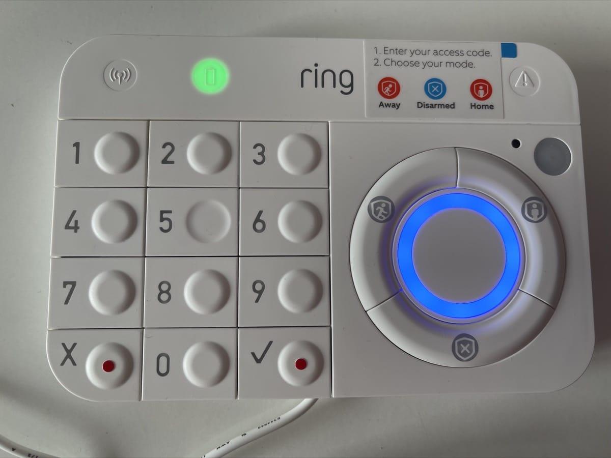 Teclado en carga Ring Alarm