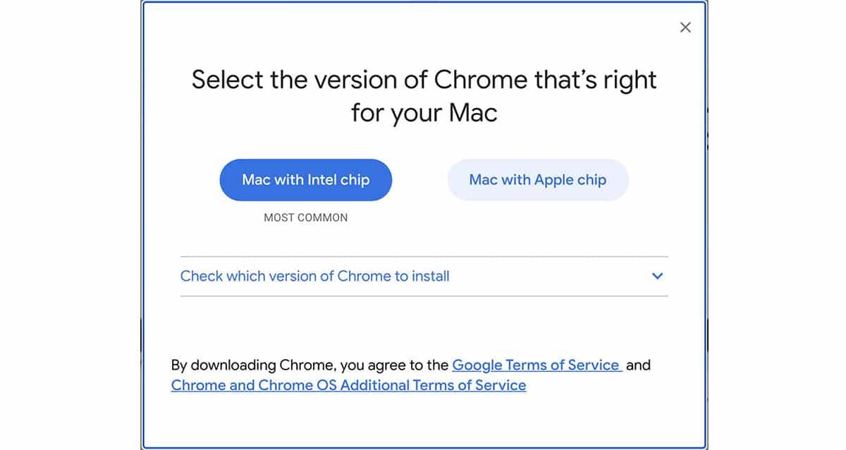 Chrome para M1