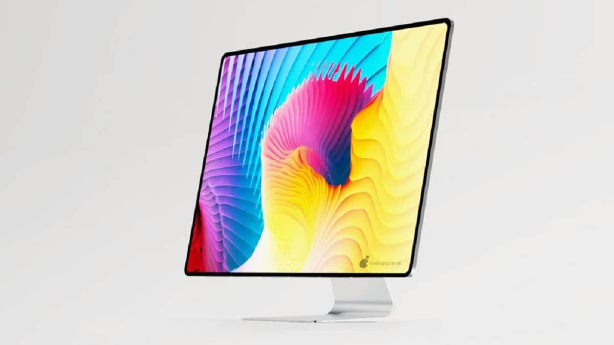 concepto de iMac diseñado sin bordes