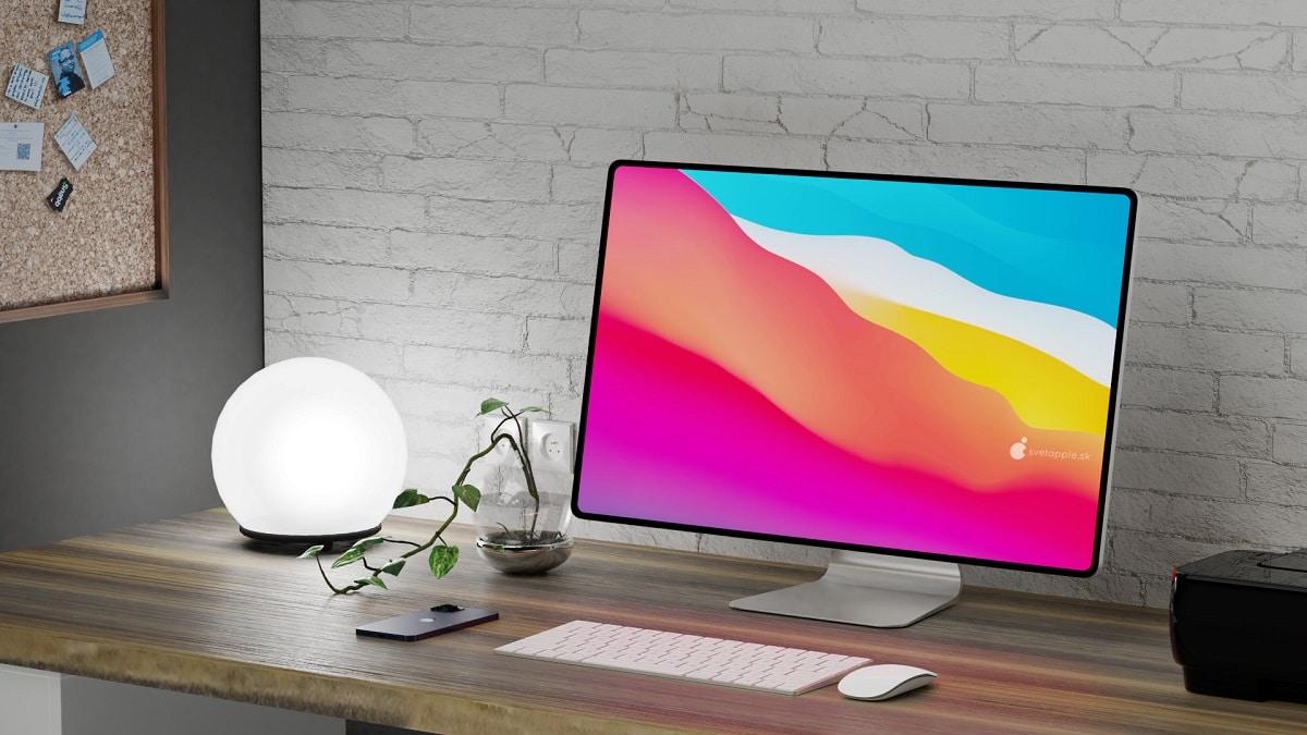 concepto de iMac sin bordes