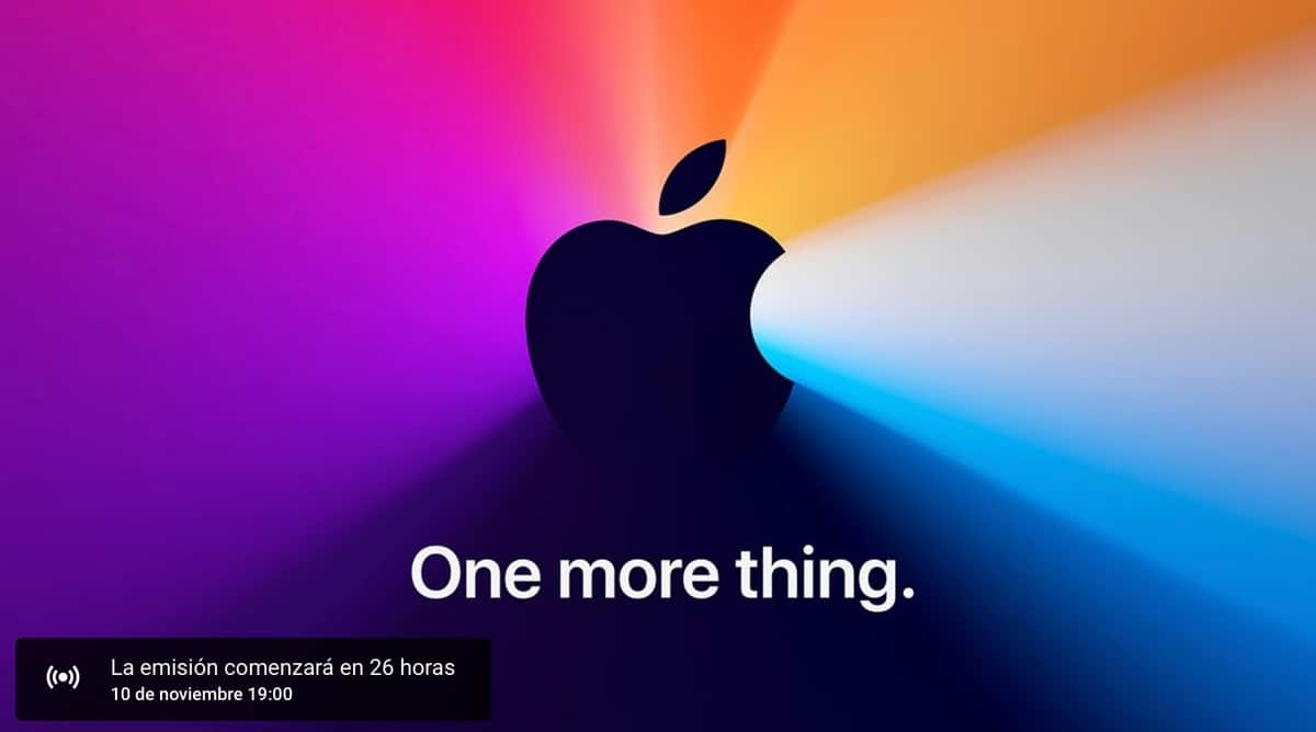 evento de Apple en Youtube