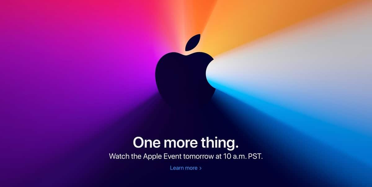 Evento de Apple a través de la Web