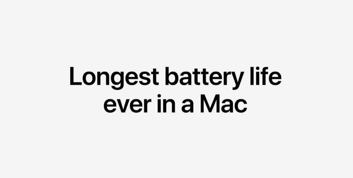MacBook Pro con M1 duración de la batería