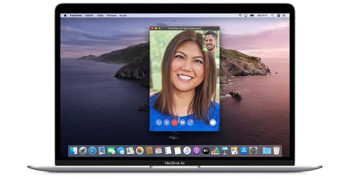 FaceTime en MacBook