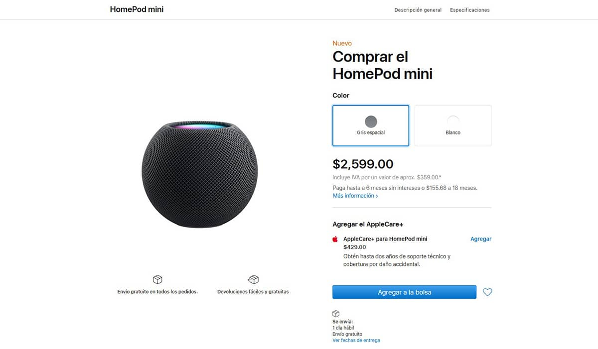 HomePod mini México