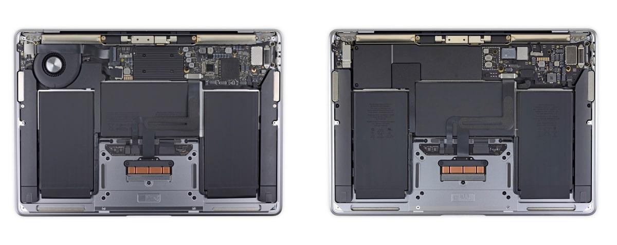 iFixit nos muestra el interior de los nuevos MacBook con M1