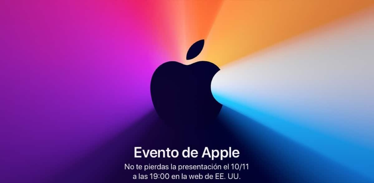 Fecha evento Apple noviembre