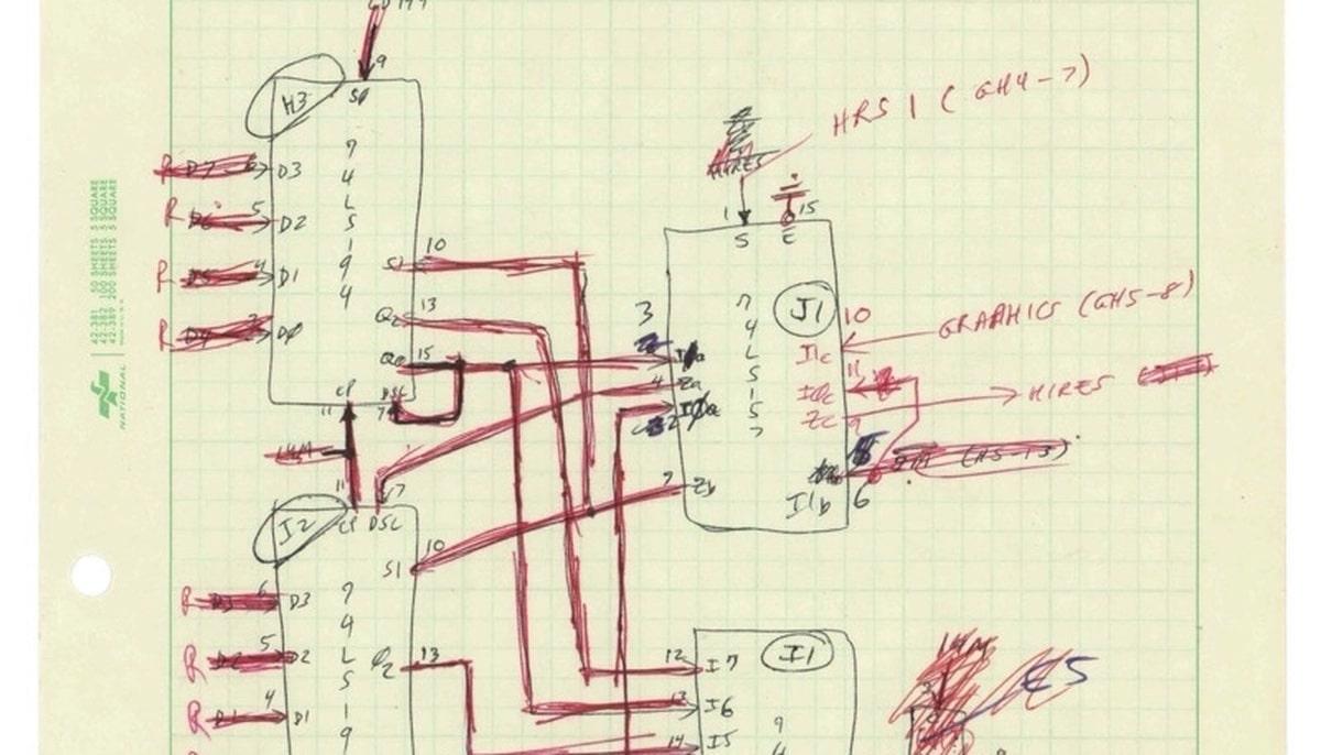 Manuscrito subastado de Steve Wozniak