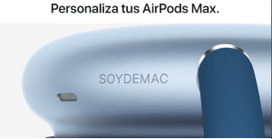 grabado en los AirPods-Max