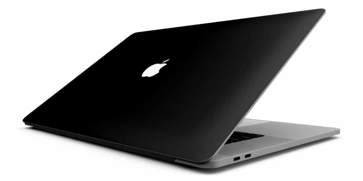 Un MacBook de color negro mate
