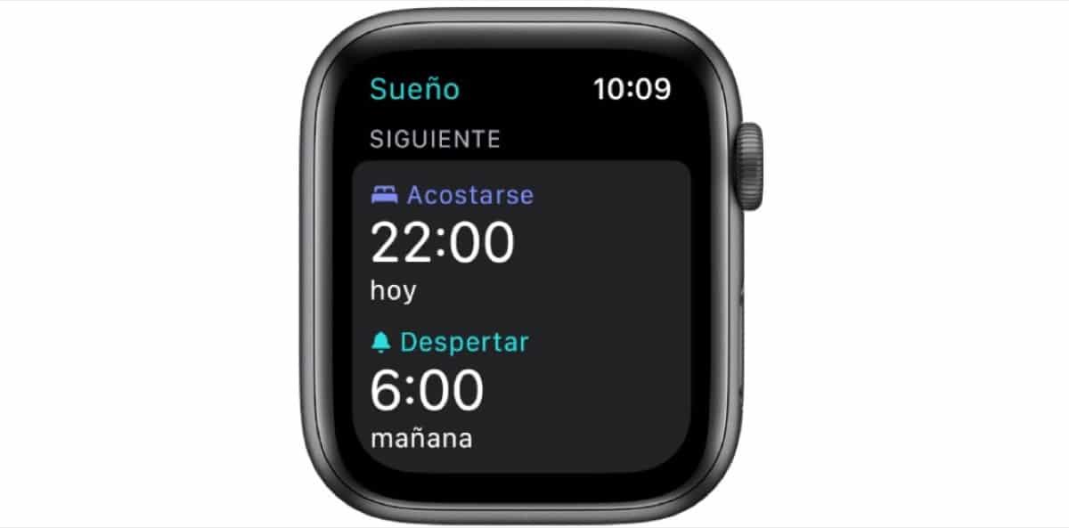 Modo sueño Apple Watch