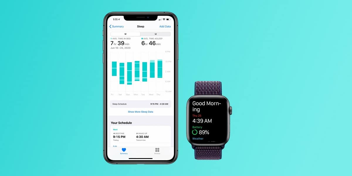 App nativa para medir el sueño en Apple™ Watch