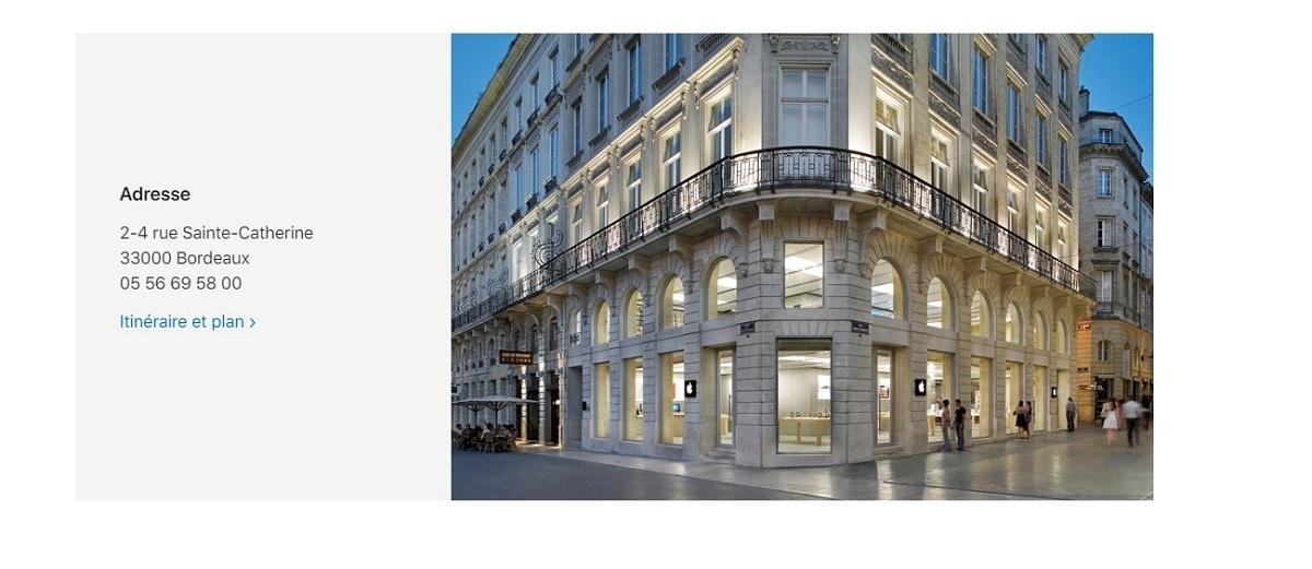 Apple Store en Burdeos,francia se renueva por dentro