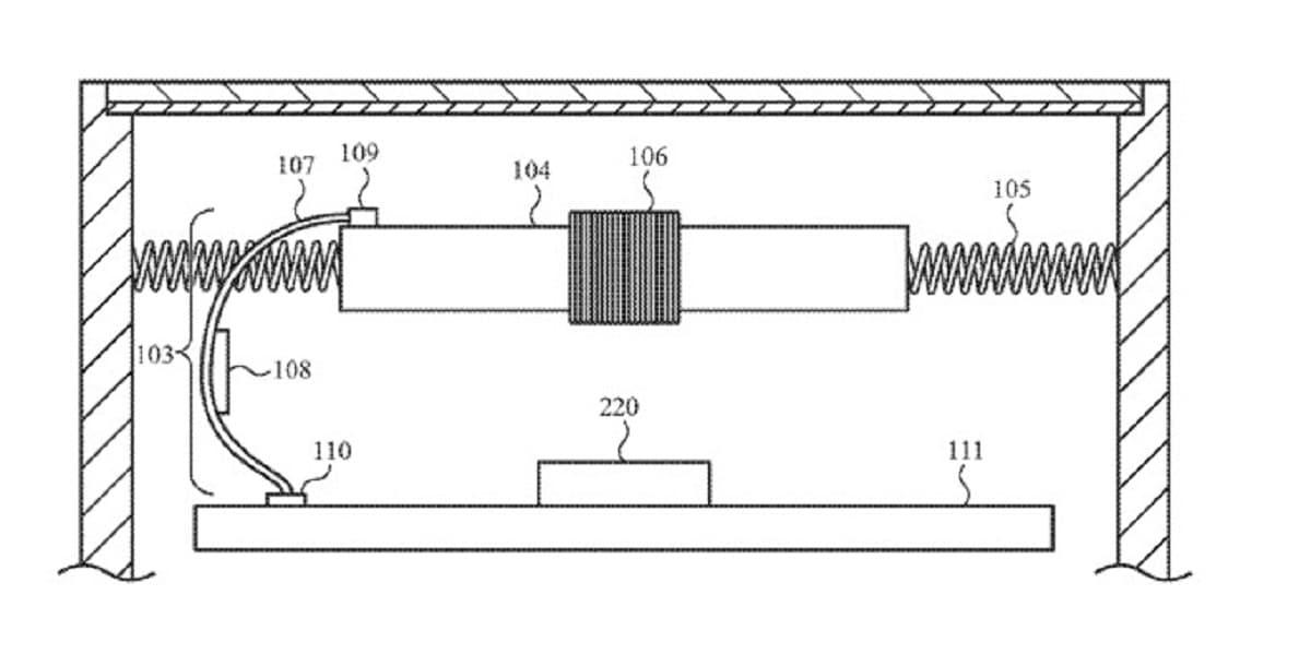 Nueva patente para el Apple™ Watch con batería que se mueve para dar alguna respuesta háptica al usuario