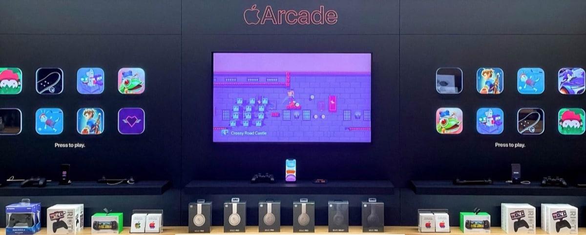 La promoción de Apple Arcade en las tiendas de Apple