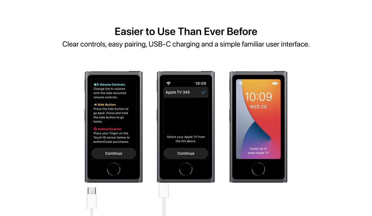 USB-C  para el concepto de Apple Remote