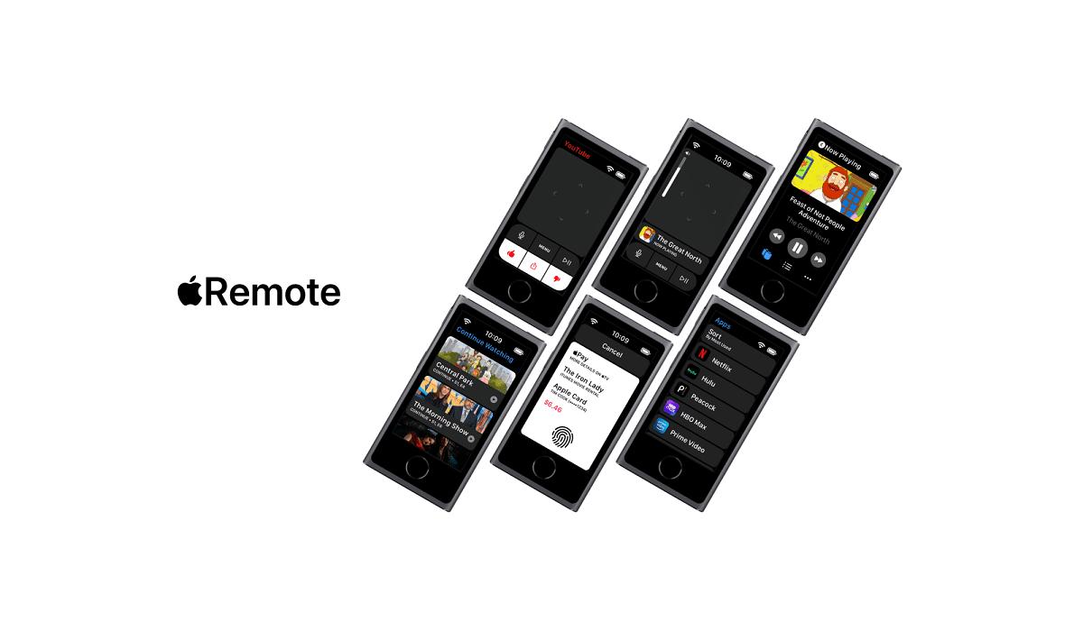 Así de impresionante luce este concepto de un nuevo Apple Remote para el Apple TV