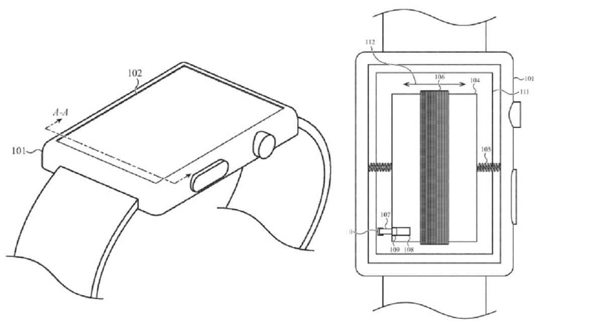 Nueva patente del Apple™ Watch para que la batería de información háptica al usuario