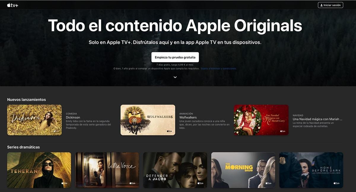 La página web de Apple TV+ se remodela completamente