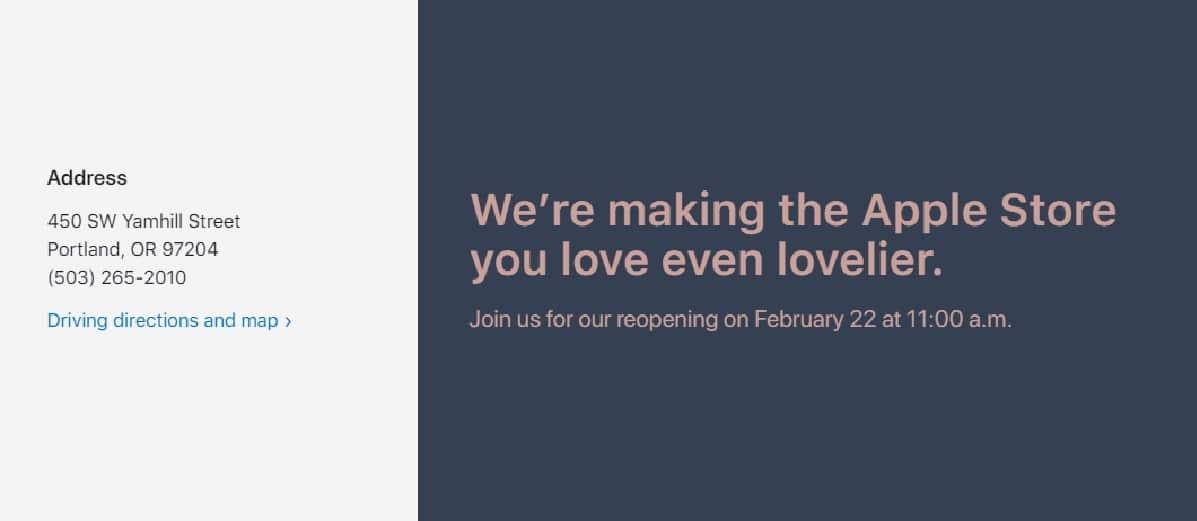 La Apple Store de Portland abre 9 meses después