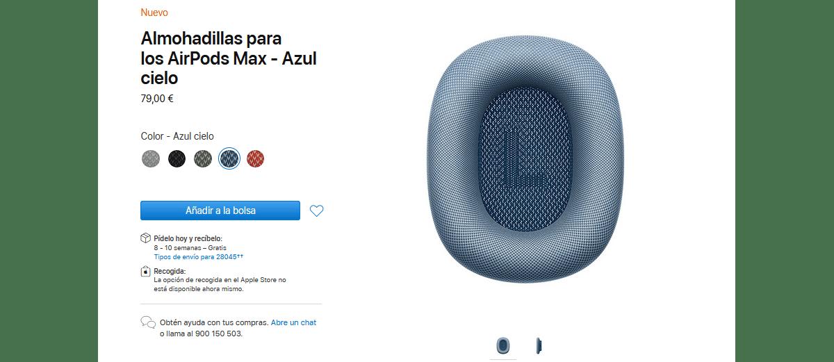 almohadillas repuesto AirPdos Max