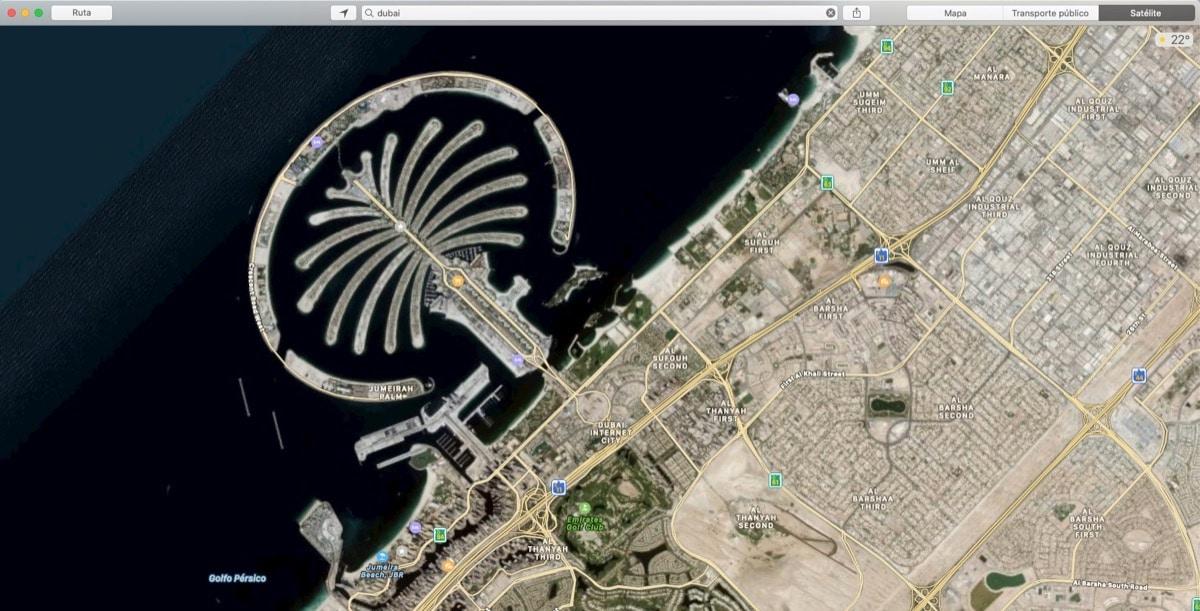 Apple Maps Emiratos