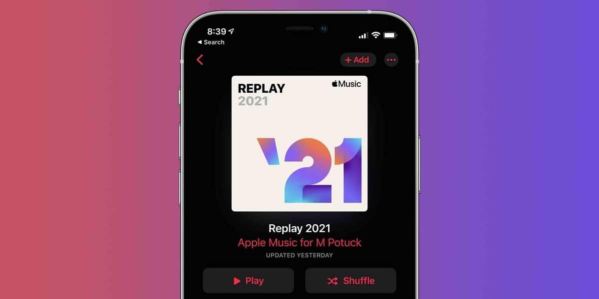 Lista replay 2021 de apple Music