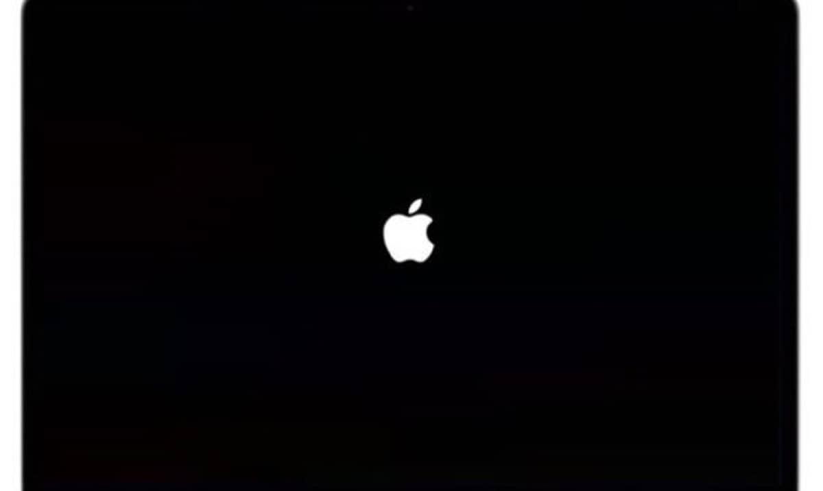 logotipo de Apple cuando se reinicia el Mac con M1